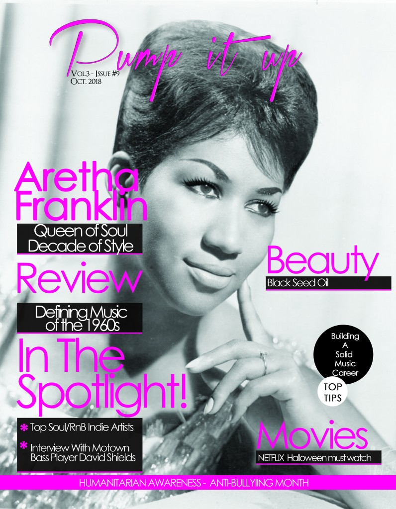 Aretha Franklin front cover october 2018