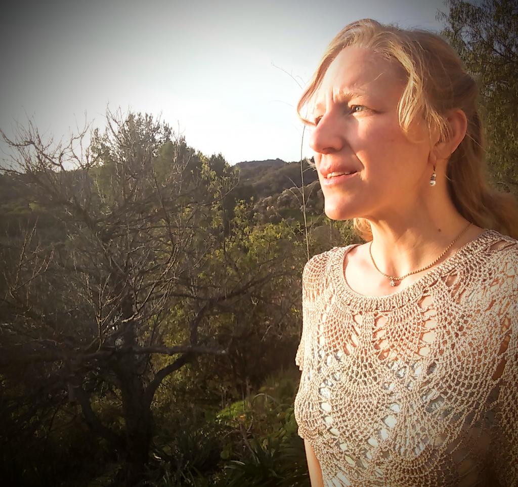 Sara Rose in the  woods