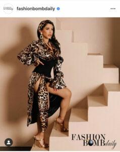 Fashion Bomb - Gigi Vega - Leopard dress
