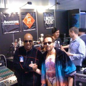 Stevie Wonder and Michael Schuman
