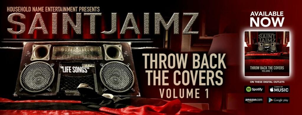 90's R&B Music - R&B SINGER SAINT JAIMZ - red banner - cd cover -